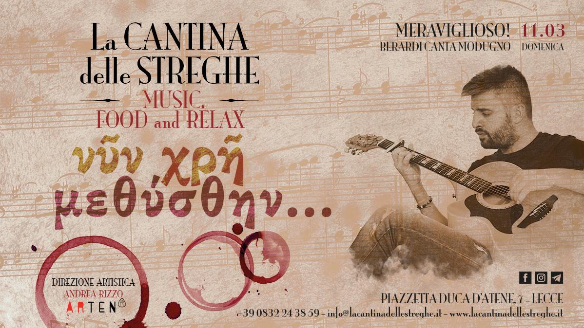 νῦν χρῆ μεθύσθην n.1 -Davide Berardi canta Modugno