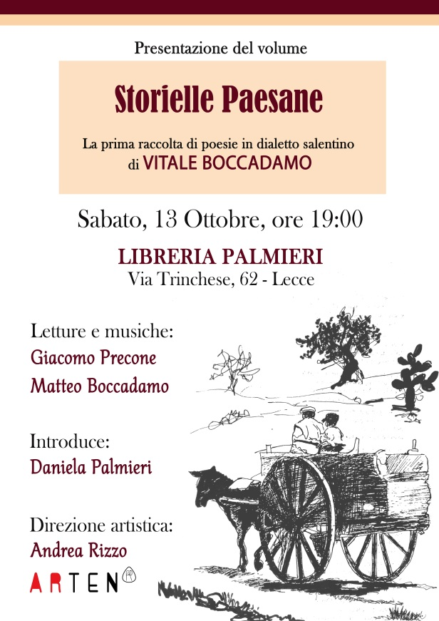 2018.10.13 ''Storielle Paesane'' di Vitale Boccadamo @ Libreria Palmieri